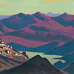 Roerich N.K. (Part 2) - Tibet. Lake Yam-tso Lake # 103 Yam Tso (The village in the mountains)