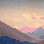 Himalayas # 88 Mountains at sunset, Roerich N.K. (Part 4)