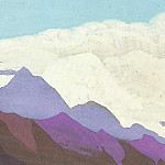 The Himalayas # 151 In the cloudy ocean, Roerich N.K. (Part 4)