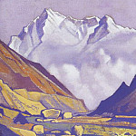 Roerich N.K. (Part 4) - Nanga Parbat # 20 Nanga Parbat (valley at the snowy mountains)
