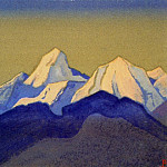 The Himalayas # 87 The peaks illuminated by the sun, Roerich N.K. (Part 4)