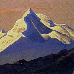 Himalayas # 62 The snow shining on the dying sky, Roerich N.K. (Part 4)