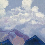 Himalayas # 118 Clouds above the peaks, Roerich N.K. (Part 4)