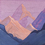 The Himalayas # 141 The fiery peaks, Roerich N.K. (Part 4)