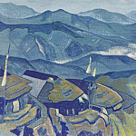 Stupa. Countryside # 63, Roerich N.K. (Part 3)