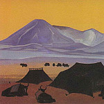 Tibetan camp # 69 , Roerich N.K. (Part 3)
