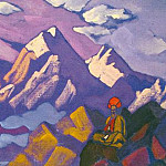 Tibet. Lama in the mountains, Roerich N.K. (Part 3)