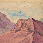 Etude with the image of Maitreya, carved on the rock, Roerich N.K. (Part 3)