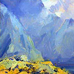 Mountain lake , Roerich N.K. (Part 3)