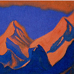 Burning peaks against the evening sky, Roerich N.K. (Part 3)
