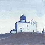 Roerich N.K. (Part 3) - Study for the chapel of St. Sergius of America # 17 (The Church of St.. St. Sergius of America)