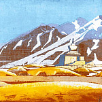 Stupa at the foot of the mountain, Roerich N.K. (Part 3)