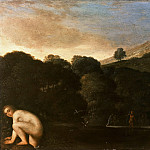 Adam Elsheimer – Landscape with bathing nymph, Part 1