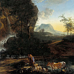 Part 1 - Adam Pynacker (1622-1673) - Waterfall in mountainous landscape