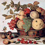 Balthasar van der Ast – Still Life with Fruit Basket, Part 1