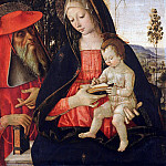 Part 1 - Pintoricchio (Bernardino di Betto)(1454-1513) - Madonna and Child with St. Jerome