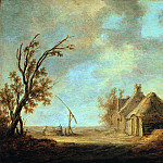 Aelbert Cuyp – landscape with draw-well in front of a homestead, Part 1