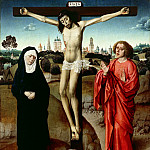 Part 1 - Dieric Bouts (Workshop) - Christ on the cross between Mary and John