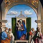 Giovanni Batista Cima – Enthroned Madonna with Child and SS Peter, Romualdus, Benedict and Paul, Part 1