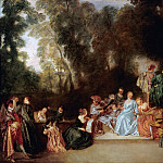 Antoine Watteau – Party Outdoors, Part 1