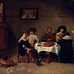 Company at the meal, David II Teniers