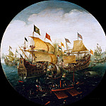 Aert Anthonisz – Battle between dutch and Spanish ships, Part 1