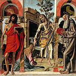 Bartolomeo Montagna – The Risen Christ with Mary Magdalene and St. John the Baptist and Saint Jerome, Part 1