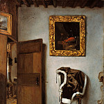 Part 1 - Cornelis Bisschop (1630-1674) - Interior with jacket on a chair