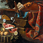 Cristoforo Munari – Still Life with Musical Instruments and Fruit, Part 1