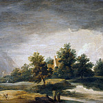 Landscape with rainbow, David II Teniers
