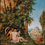 Albrecht Altdorfer – Landscape with Satyr Family, Part 1