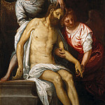 Part 1 - Veronese (Caliari, Paolo) (1528-1588) - The Dead Christ, two mourning angels supported against