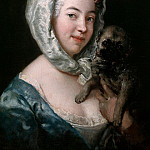 Antoine Pesne – Granddaughter of the artist with Pug dog, Part 1