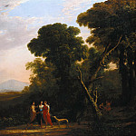 Roman Ideal Landscape with Cephalus, Procris, and Diana, Claude Lorrain
