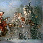 Antoine Pesne – Lute player with society in a park, Part 1