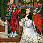 Part 1 - Aelbrecht Bouts (c.1455-1549) - St. Augustine and St. John the Baptist with a donor