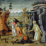 Part 1 - Jacopo del Sellaio (1441-42-1493) - Landscape with biblical scenes and scenes from legends of the saints