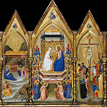 Bernardo Daddi – Altar of the coronation of the Virgin, Part 1