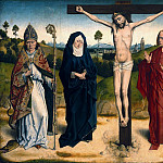 Dieric Bouts – Christ on the Cross Between Mary and John, Adolphus and Ambrose, Part 1