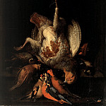 Part 1 - Abraham Mignon (1640-1679) - Still Life with Dead Partridge and birds in a stone niche