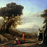 Italian landscape in morning light, Claude Lorrain