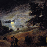 Adriaen Brouwer – Dunes in the moonlight, Part 1