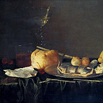 Cornelis Mahu – Still Life with a chopped herring, Part 1