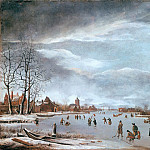 Anthonie Beerstraten – Frozen river with skaters, Part 1