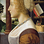 Part 1 - Davide Ghirlandaio (1452-1525) - Profile portrait of a young woman
