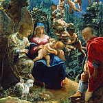 Adam Elsheimer – The Holy Family with the Infant John the Baptist and Angels, Part 1