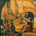 The Miserly knight. Set Design # 7, Roerich N.K. (Part 2)
