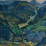 Roerich N.K. (Part 1) - Mill in the mountains. Step 1-e