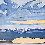 Roerich N.K. (Part 2) - Horseman sunset. Thumbnail # 34 (Knight pm)