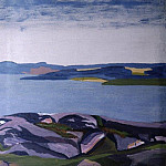 Roerich N.K. (Part 2) - Mountain Lake. Finnish landscape (Sketch. The sketch for the painting)
